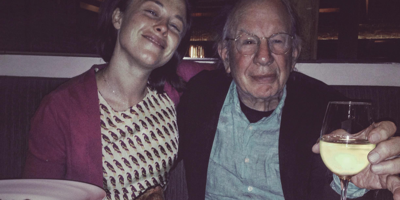 Jonah Raskin with Farmer Kellen MacKay at 25 Lusk