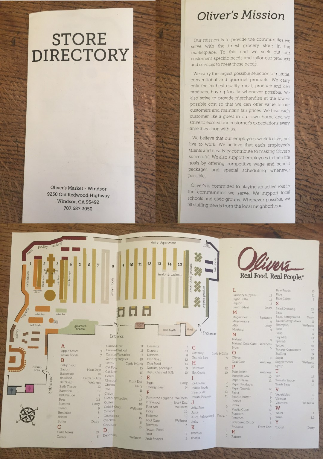 Directory of Oliver's new Windsor Store