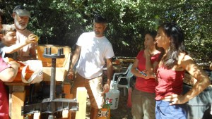 Volunteering with the Slow Food Russian River Apple Core at the Community Apple Press, Luther Burbank Gold Ridge Experiment Farm, Sebastopol, CA