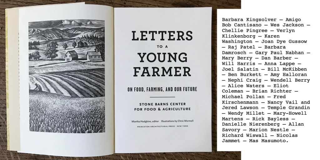 """Letters to a Young Farmer"": On Food, Farming, and Our Future, by Martha Hodgkins"