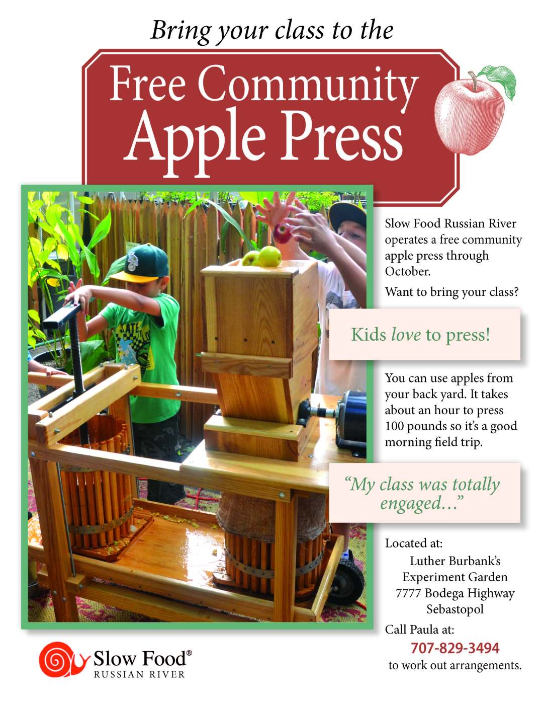 Bring your class to the FREE Community Apple Press