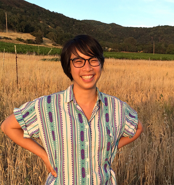 Farmer Mai (Nguyen) taught us the difference between whole and refined grain, knowledge we'll use during our yearlong partnership with the California Grain Campaign.