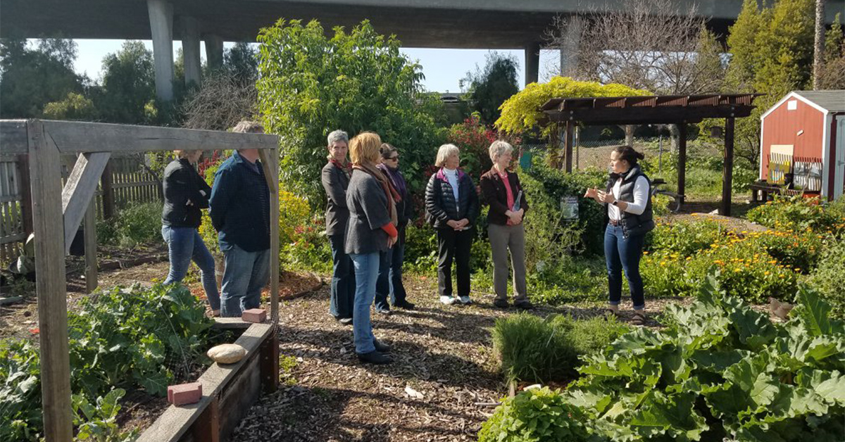 Slow Food California 2018 Leaders Meeting on their tour at Veggielution