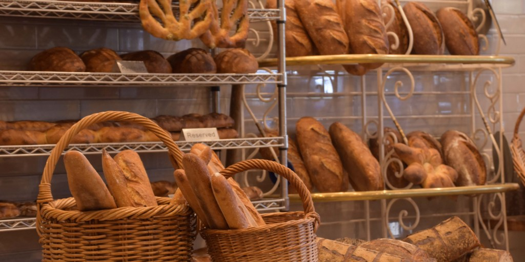 Goguette breads on the shelf, waiting to be taken home