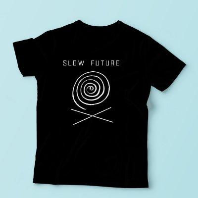 swirl logo t shirt red slow future