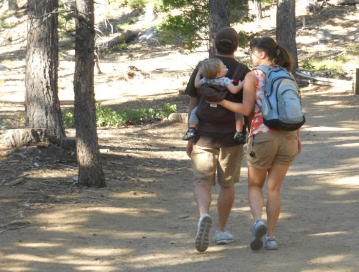 Us a few years later in Tahoe, with our oldest.