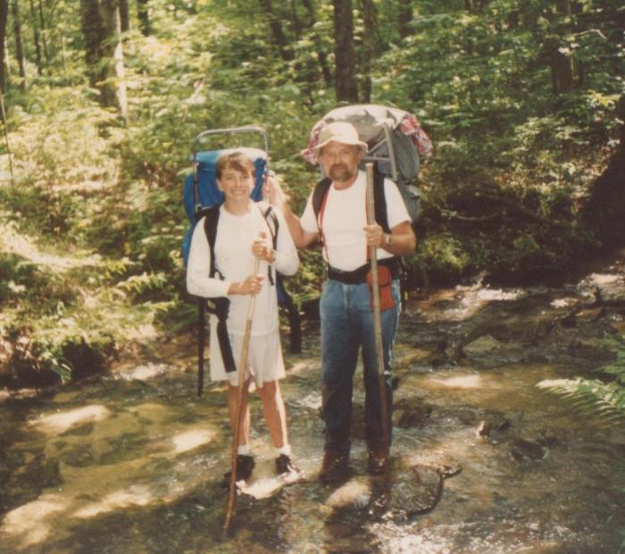 A much younger Mr. SSC and Dad hiking on Father's Day.