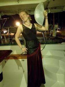 We had one last dinner in Malaga Saturday night & I got myself a flamenco outfit!
