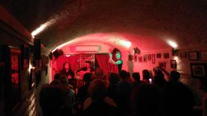 Flamenco show in a cave-looking bar in Granada