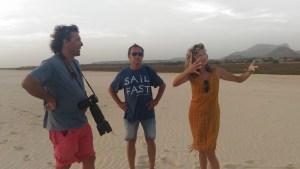 Dominique, Pierrick & Zeyno at the beach of Santa Monical, Boavista, Cape Verde.