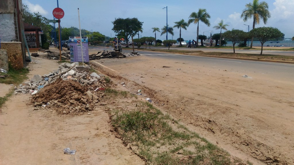 Samana City streets & sidewalk - After the flood