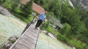 Me on the shaky bridge