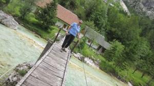 Me on the shaky bridge