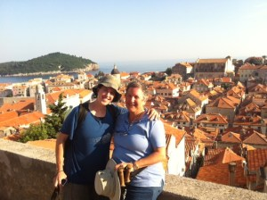 Shoshi and I on the walls of Dubrovnik