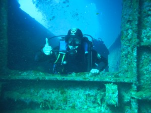 Me - 21 meters below