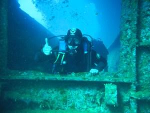 Me - 21 meters below
