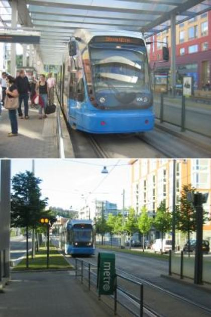 Hammarby sjöstad tram. Photo: Per Berg