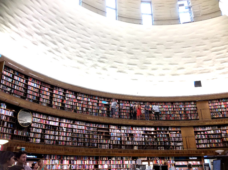 Stockholm Public Library. Photo by Fay Edwards