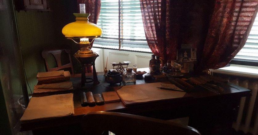 August Strindberg's desk inside Blå tornet. Photo by Cas Blomberg