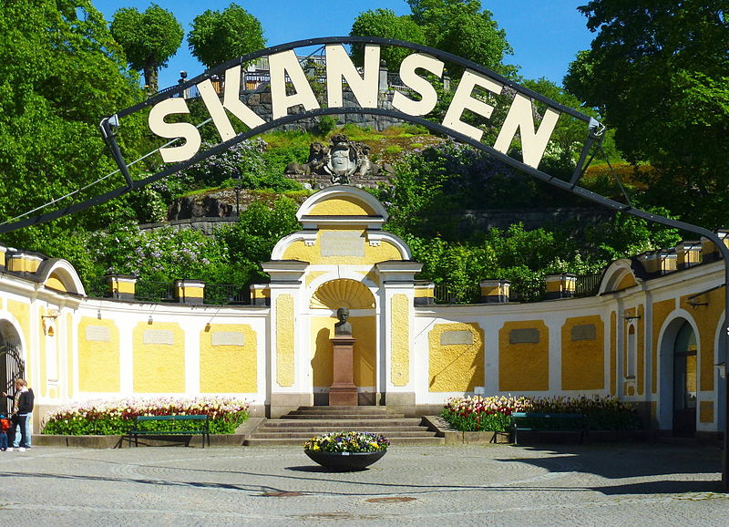 Skansen museum front gate