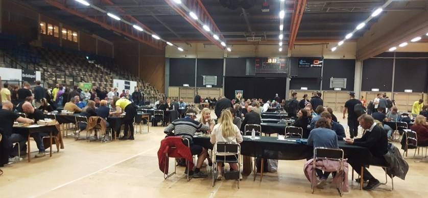 stockholm tabletop game expo players in main hal