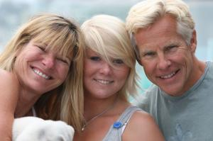 Mark Sisson with his wife and daughter