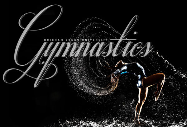 BYU Photo Creates Dynamic Gymnastics Posters At The Pool