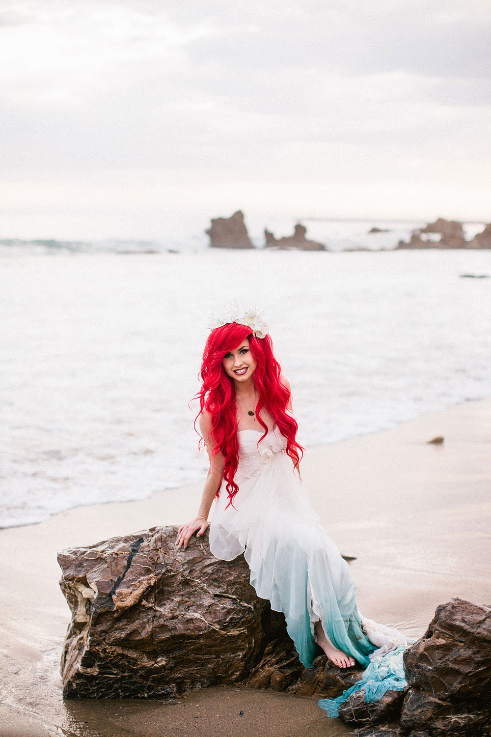 Little Mermaid Inspired Wedding Shoot Will Make Your Fairy