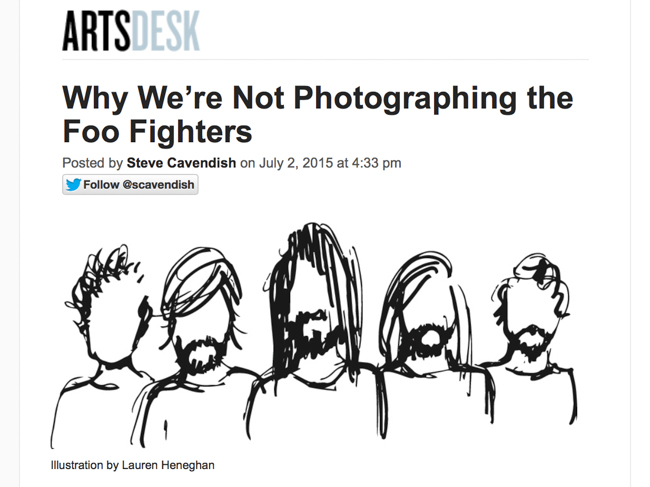 Newspaper Insults & Rejects Foo Fighters Image Contract