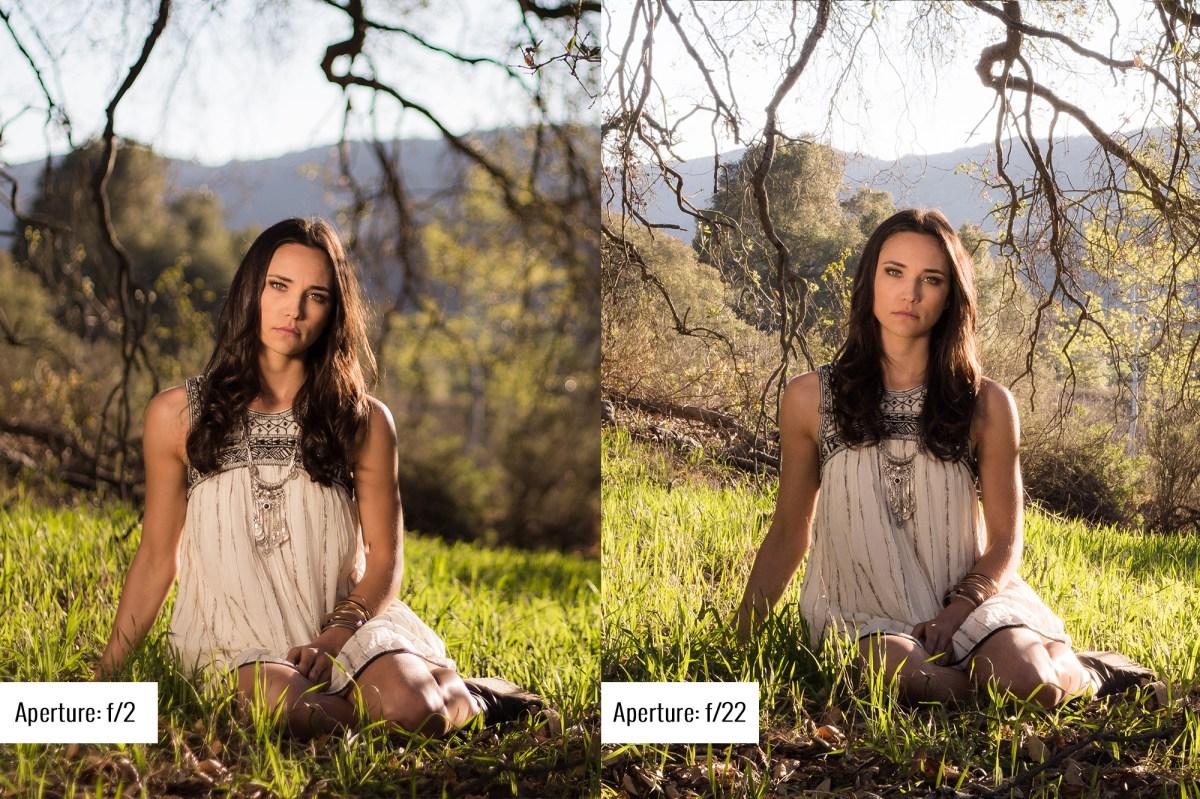 camera aperture tutorial example