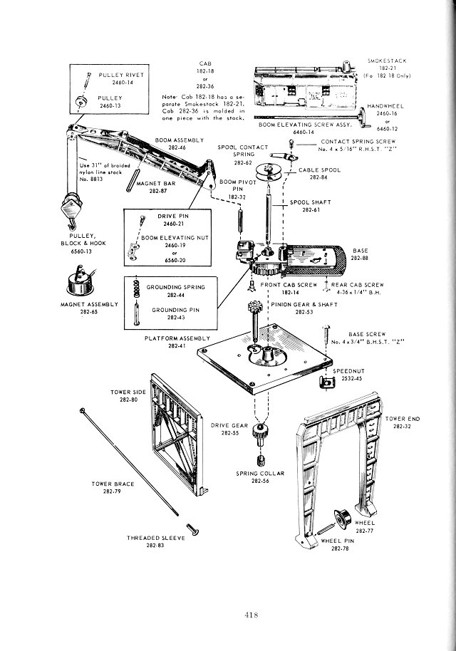 Lionel 282 Portal Gantry Crane Repair Manual