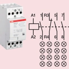 Wiring Diagram Of Contactor Amp Research - 4 Circuit 24 Amp: High Quality Abb