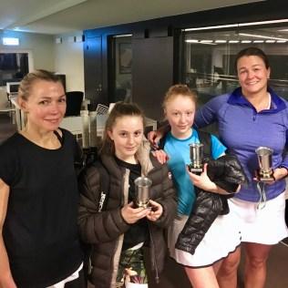 Johanna Idman/Maria Bronett på flankerna vann Damdubbelfinalen mot Sarah Oldmark och Filippa Källeskog.