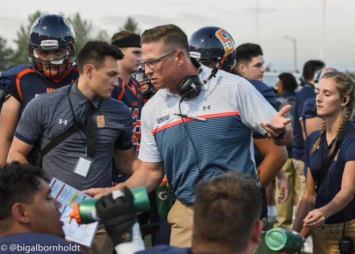 Photo courtesy of Snow College Athletics | After serving as Snow College's offensive coordinator for two years, Andrew Mitchell was promoted to head coach when Paul Peterson left to become head coach at Dixie State College.