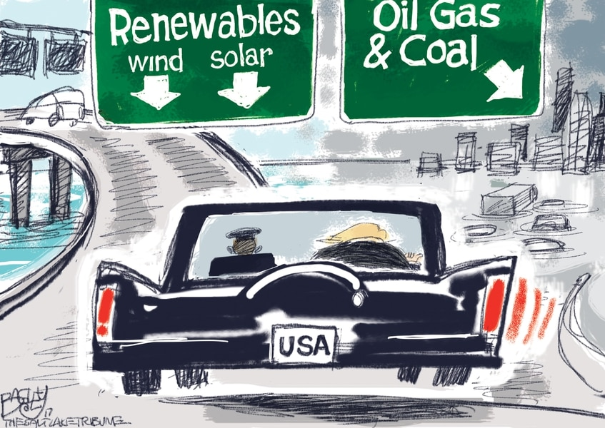 Bagley Cartoon: The Road Not Taken