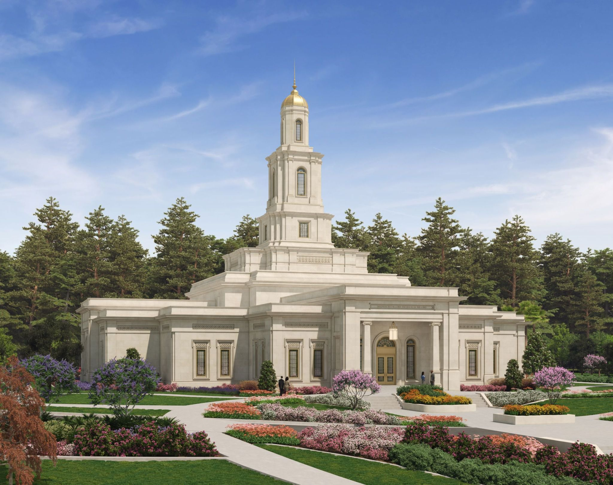 (Rendering courtesy of The Church of Jesus Christ of Latter-day Saints) Tallahassee Florida Temple.