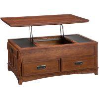 Slumberland Furniture | Cross Island Lift Top Coffee Table