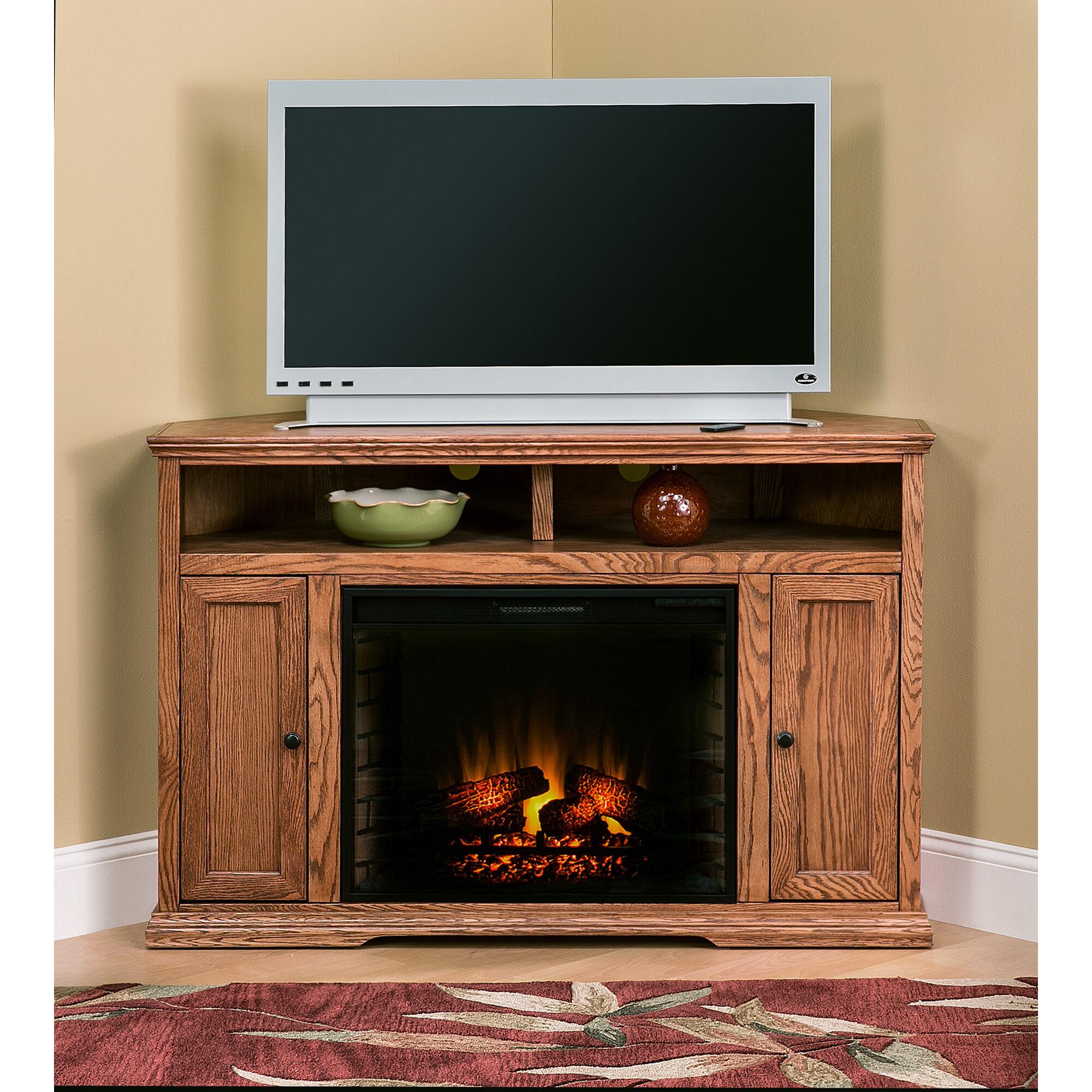 Slumberland Furniture Chambers 56 Inch Corner Fireplace Console