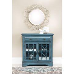 Slumberland Com Sofas How To Measure A Sofa Furniture   Chilton Antique Blue Cabinet