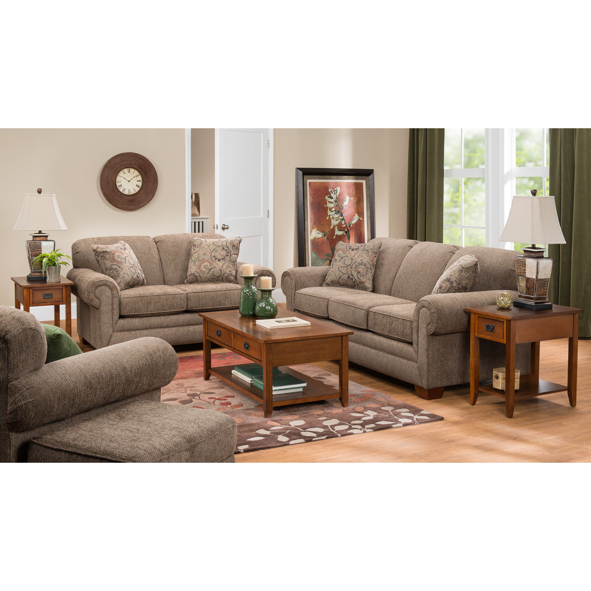 Slumberland Furniture  Tenor Brown Sofa