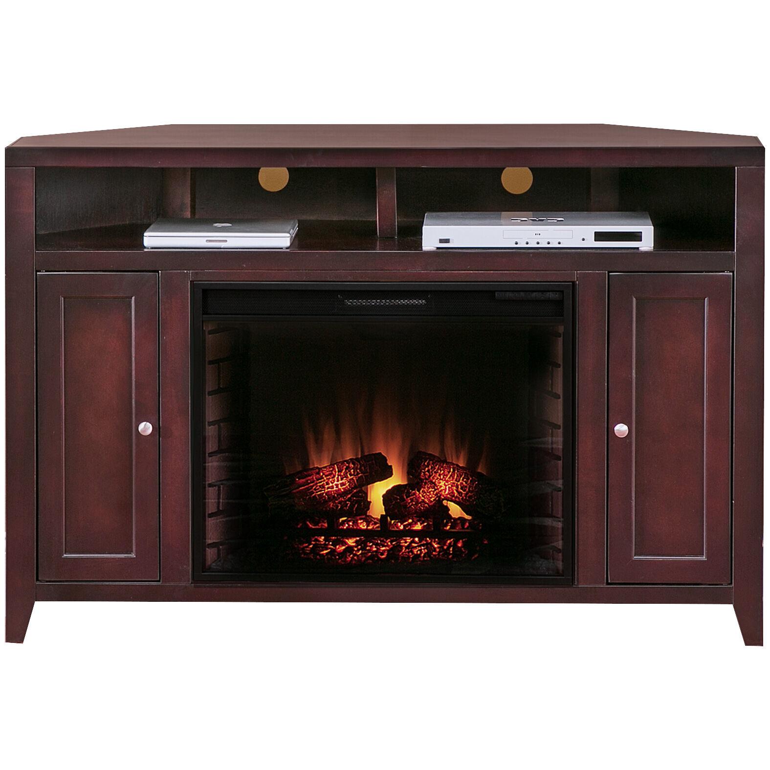 Slumberland Furniture Lockwood Mocha Corner Fireplace