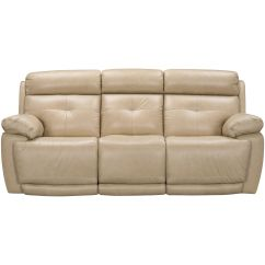 Futura Leather And Vinyl Power Reclining Sofa With Headrest In Stone Below 5000 Chennai Slumberland Furniture Sofas Rhodes