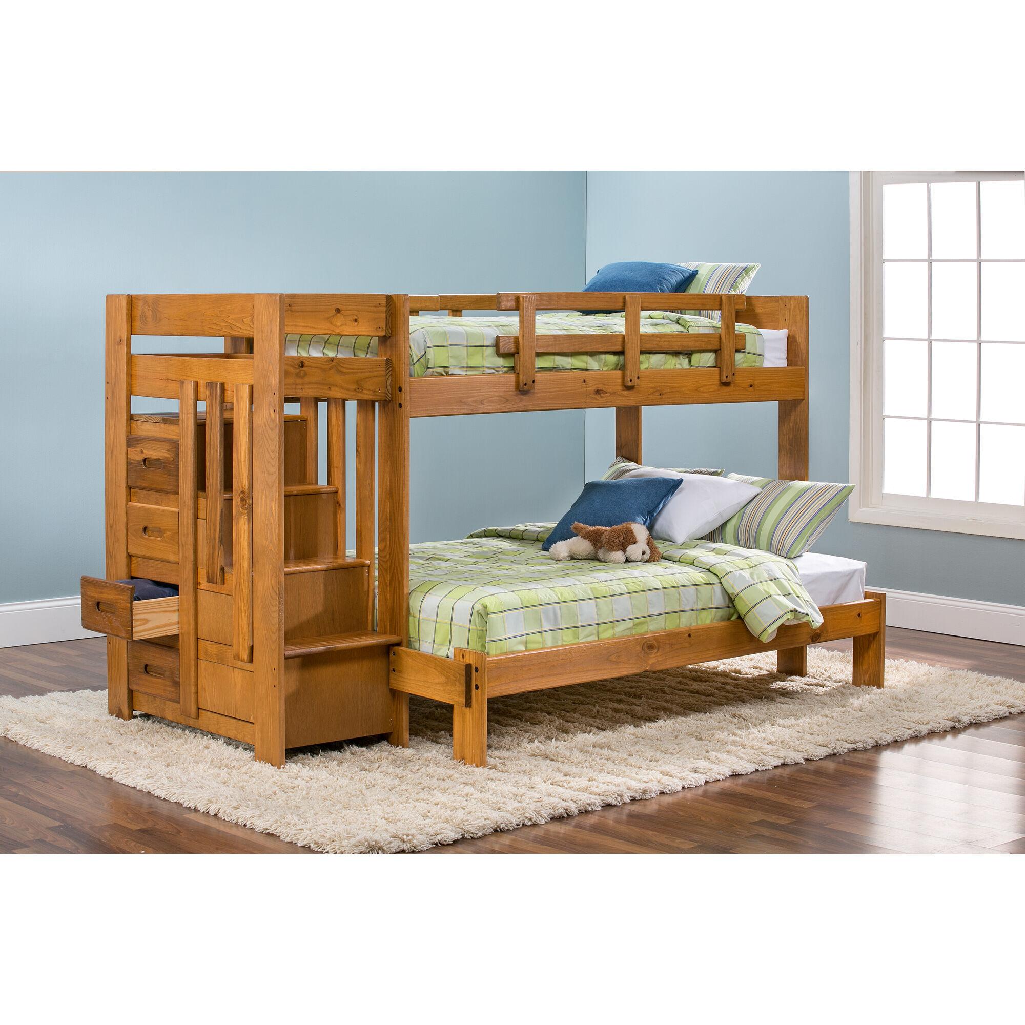 Slumberland Furniture Tanglewood Honey TWFL Stair Bunk