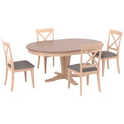 Kirklands Dining Chairs Personalized Beach Chair Slumberland Furniture Kirkland 5 Piece X Back Set Images