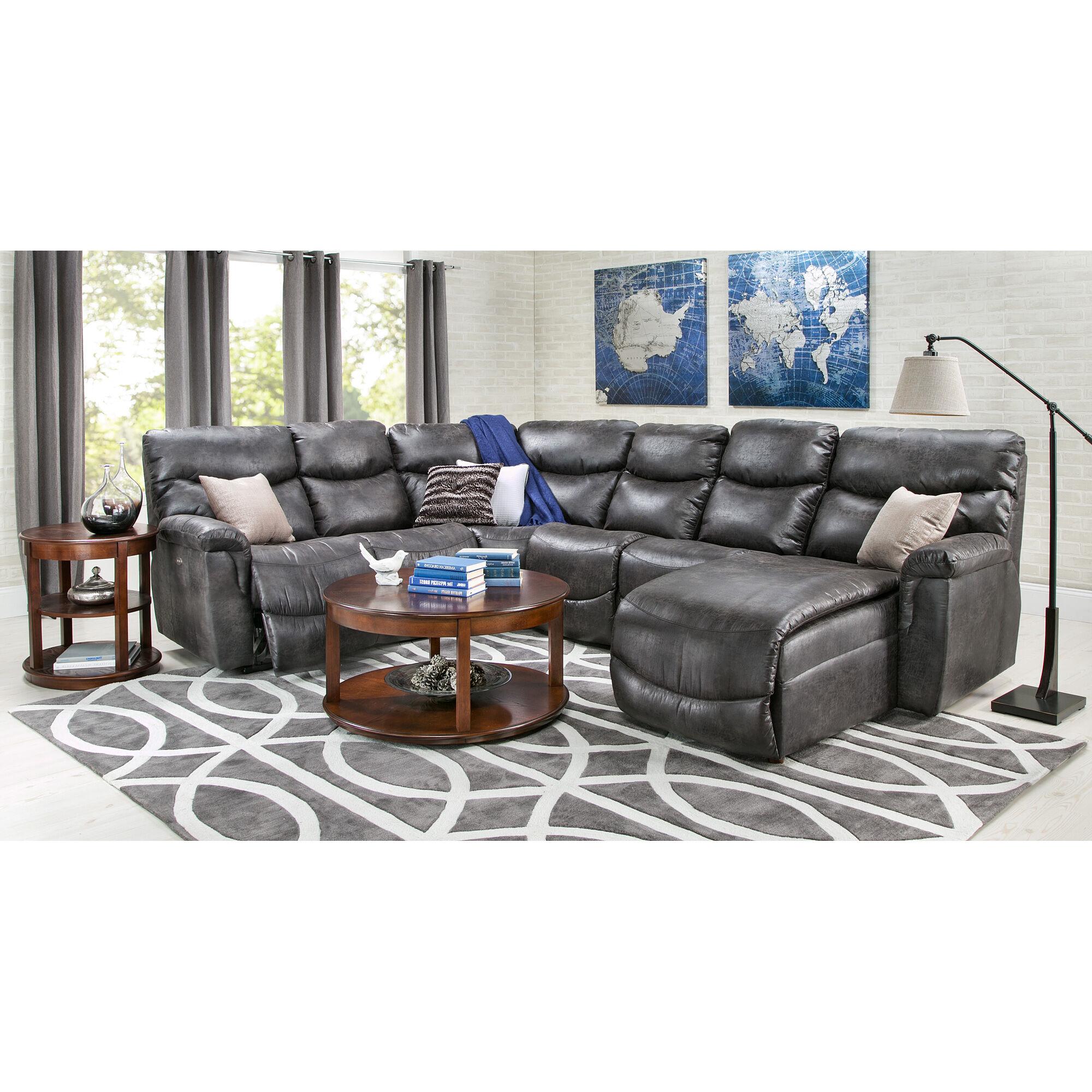 slumberland com sofas ashley damacio leather reclining sofa in dark brown furniture james sectional room group