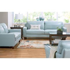 Aqua Sofa Decorating With Brown Leather Slumberland Furniture Fender