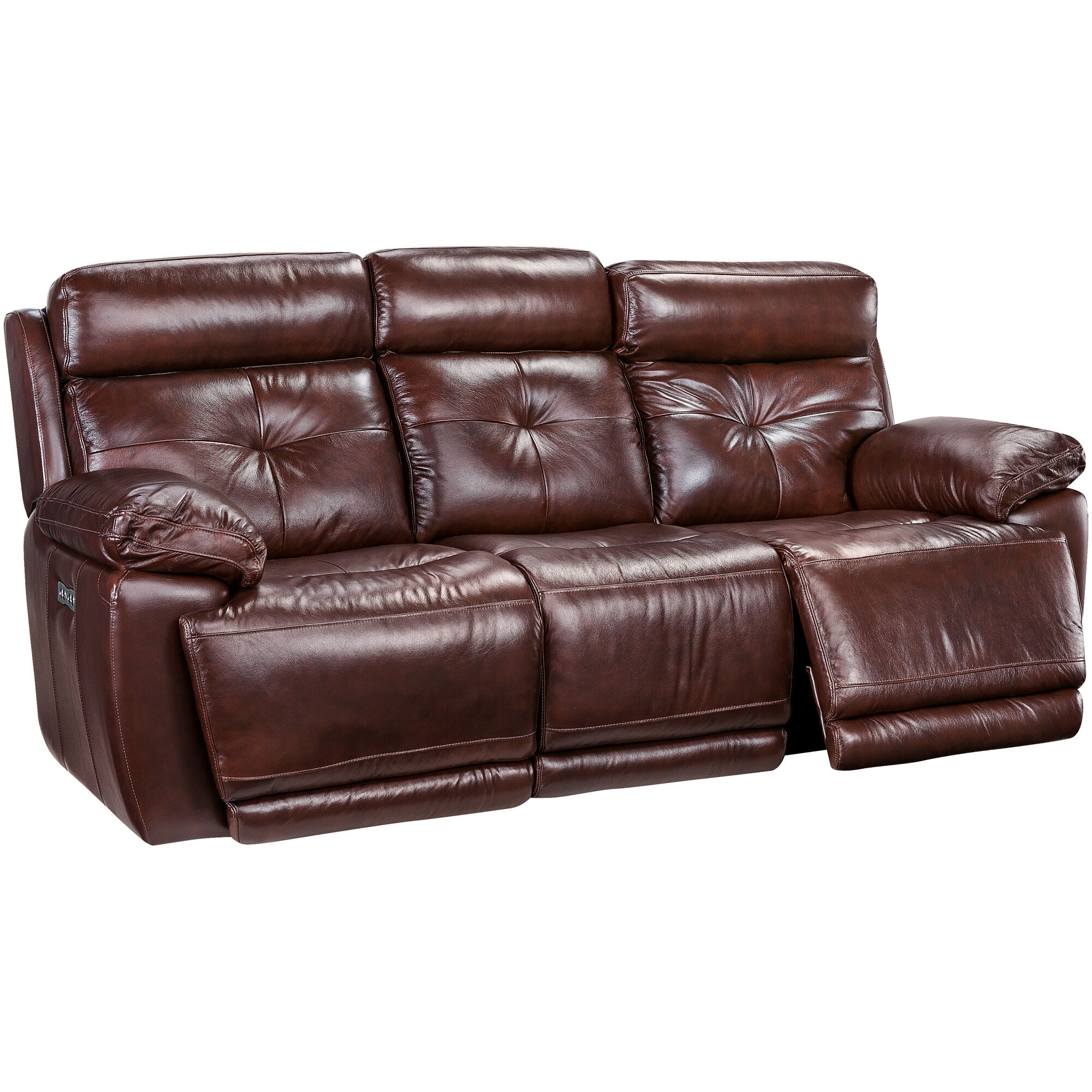 Slumberland Furniture  Rhodes Brown Power Reclining Sofa