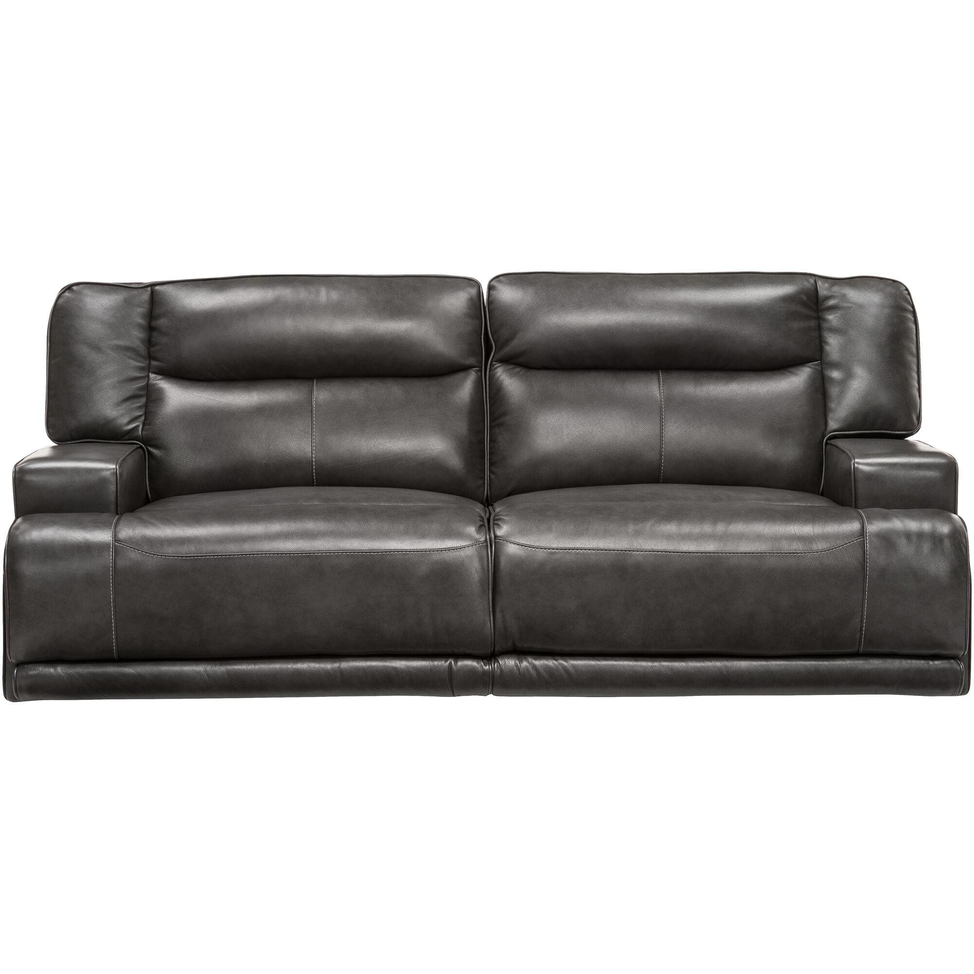 grey power reclining sofa how to restuff cushions slumberland furniture tompkins gray