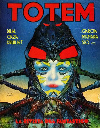 Totem, la rivista del fumetto fantastico anni ottanta.