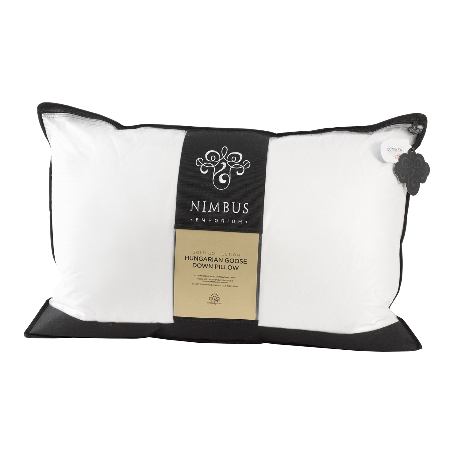 Nimbus Gold 100 Pure Hungarian Goose Down Pillow from